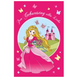 SUSY CARD Kinder-Geburtstagskarte Princess