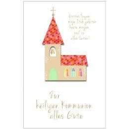SUSY CARD Kommunionskarte Kirche