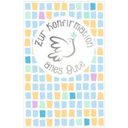 SUSY CARD Konfirmationskarte Geldschein Taube