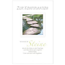 SUSY CARD Konfirmationskarte Steine im Wasser