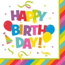 SUSY CARD Motivservietten Happy Birthday, 330 x 330 mm