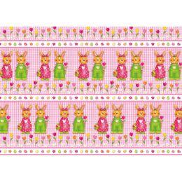 SUSY CARD Oster-Geschenkpapier Hasenpaar, auf Rolle