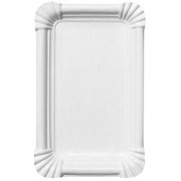 SUSY CARD Papp-Teller, eckig, Maße: 130 x 200 mm, weiß