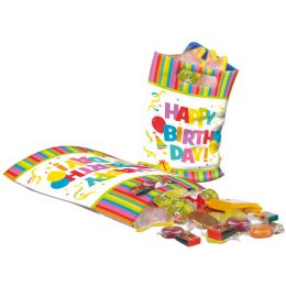 SUSY CARD Party-Tüte Happy Birthday, aus Kunststoff