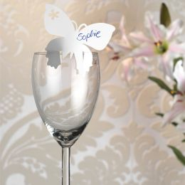 SUSY CARD Platzmarkierer Schmetterling, Farbe: weiß