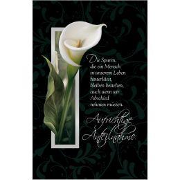 SUSY CARD Trauerkarte Calla 2