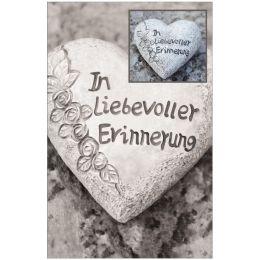 SUSY CARD Trauerkarte Herz aus Stein