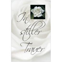 SUSY CARD Trauerkarte weiße Rose, inkl. Umschlag