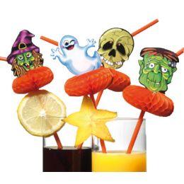 SUSY CARD Trinkhalm Halloween, flexibel, aus Kunststoff
