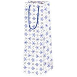 SUSY CARD Weihnachts-Flaschentüte Eiskristall blau