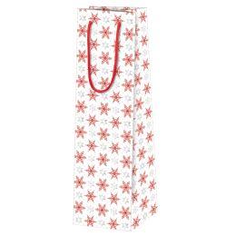 SUSY CARD Weihnachts-Flaschentüte Eiskristall rot