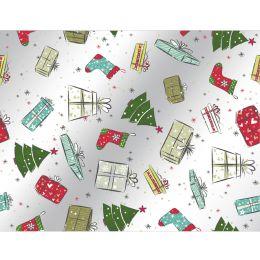 SUSY CARD Weihnachts-Geschenkfolie Bescherung, auf Rolle