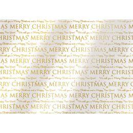SUSY CARD Weihnachts-Geschenkfolie Greetings, auf Rolle