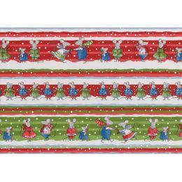 SUSY CARD Weihnachts-Geschenkpapier Snow Mice, auf Rolle