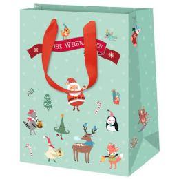 SUSY CARD Weihnachts-Geschenktüte Vintage, mittel