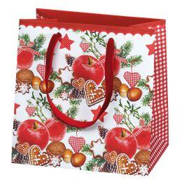 SUSY CARD Weihnachts-Geschenktüte Winterapfel, klein