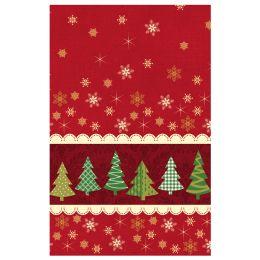 SUSY CARD Weihnachts-Mitteldecke Frozen star red