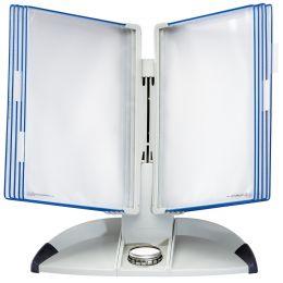 tarifold tdisplay Tischständer Design, lichtgrau/blau