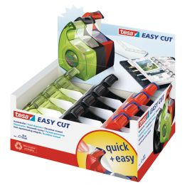 tesa Easy Cut Handabroller, farbig sortiert, Thekendisplay