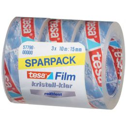 tesa Film-Set, kristall-klar, SPAR-PACK!, 15 mm x 10 m