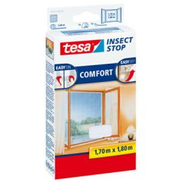 tesa Fliegengitter COMFORT für Fenster, 1 m x 1 m, anthrazit