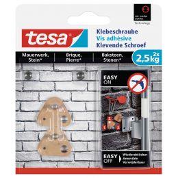 tesa Klebeschraube für Mauerwerk, dreieckig, 2,5 kg