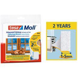 tesa Moll UNIVERSAL Schaumstoff-Dichtung, weiß, 9 mm x 6 m