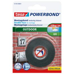 tesa Powerbond Montageband OUTDOOR, 19 mm x 1,5 m