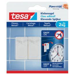 tesa Powerstrips Klebenagel für Fliesen und Metall, 2,0 kg
