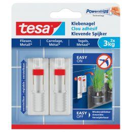 tesa Powerstrips Klebenagel für Fliesen und Metall, 3,0 kg