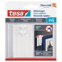 tesa Powerstrips Klebenagel für Tapete und Putz, 2,0 kg