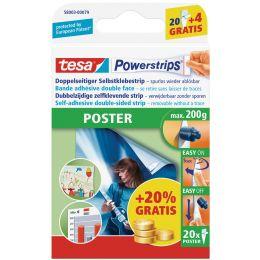 tesa Powerstrips POSTER PROMOPACK, Haltekraft: max. 0,2 kg