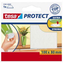 tesa Protect Filzgleiter, braun, Maße: 100 x 80 mm