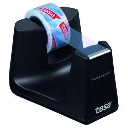 tesa Tischabroller Smart ecoLogo, bestückt, schwarz