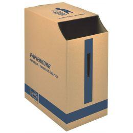 tidyPac Papierkorb, aus Karton, 35 Liter, braun