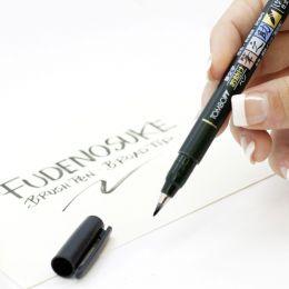 Tombow Kalligraphie-Stift Fudenosuke, Härtegrad 1, schwarz