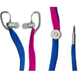 TYPHOON In-Ear Headset UniqueLace, blau/pink