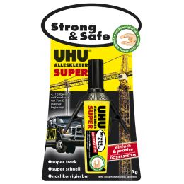 UHU Alleskleber SUPER Strong & Safe Dispenser, 3 g