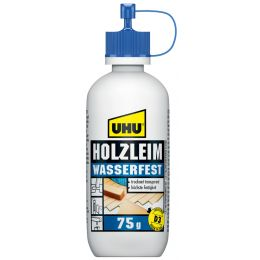 UHU Holzleim wasserfest D3, lösemittelfrei, 75 g Flasche