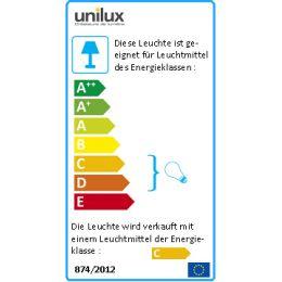 UNiLUX Halogen-Stehleuchte CRISTALIA, Farbe: metallgrau