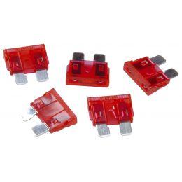 uniTEC KFZ-Flachstecksicherungen 10 Ampere, Inhalt: 5 Stück