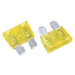 uniTEC KFZ-Flachstecksicherungen 20 Ampere, Inhalt: 5 Stück
