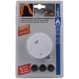uniTEC Rauchmelder CE Mini, weiß, Alarmsignal: ca. 85 dB