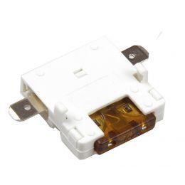 uniTEC Sicherungshalter mit Flachstecksicherung, 7,5 Ampere