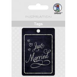 URSUS Anhängerkarte Tags - Hochzeit, Just Married