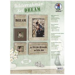 URSUS Bilderrahmen-Set Dream, Pünktchen-Optik, braun