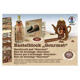 URSUS Fotokarton-Bastelblock Gourmet, 300 g/qm