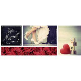 URSUS Mini-Tischlicht Hochzeit Klassik, Motiv 1