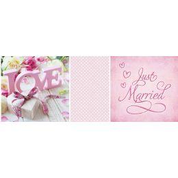URSUS Mini-Tischlicht Hochzeit Rose, Motiv 1