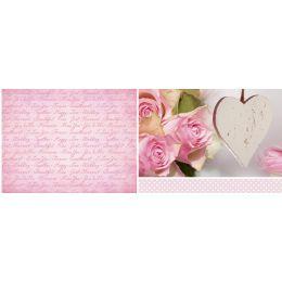 URSUS Mini-Tischlicht Hochzeit Rose, Motiv 2